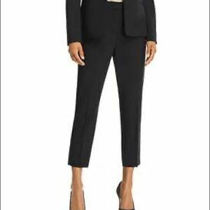 Theory Black Stretch Cotton Betide Cropped 2